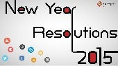 New year resolutions for 2015 - A Social Media Analysis
