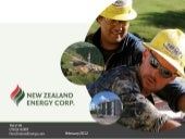 New Zealand Energy Presentation Feb...