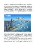 Visa for New Zealand Immigration with Expert Consultants