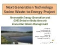 Next Generation Technology Swine Waste-to-Energy Project