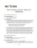 NextGenGov 2012 - What's Your Next Move Resources Sheet
