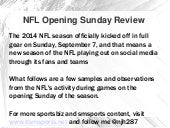 NFL Opening Sunday #SMSports Review