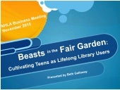Teen Library (Mis) Behavior 101, or, Beasts in the Fair Garden
