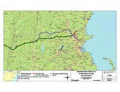 Map of Proposed Tennessee Gas Pipeline Extension through New Hampshire