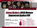 Status Matters: NCCU Women Empowered Against HIV