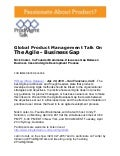 Global Product Management Talk On The Agile - Business Gap
