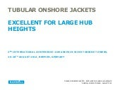 Why Ramboll recommends tubular onshore jackets for large hub heights