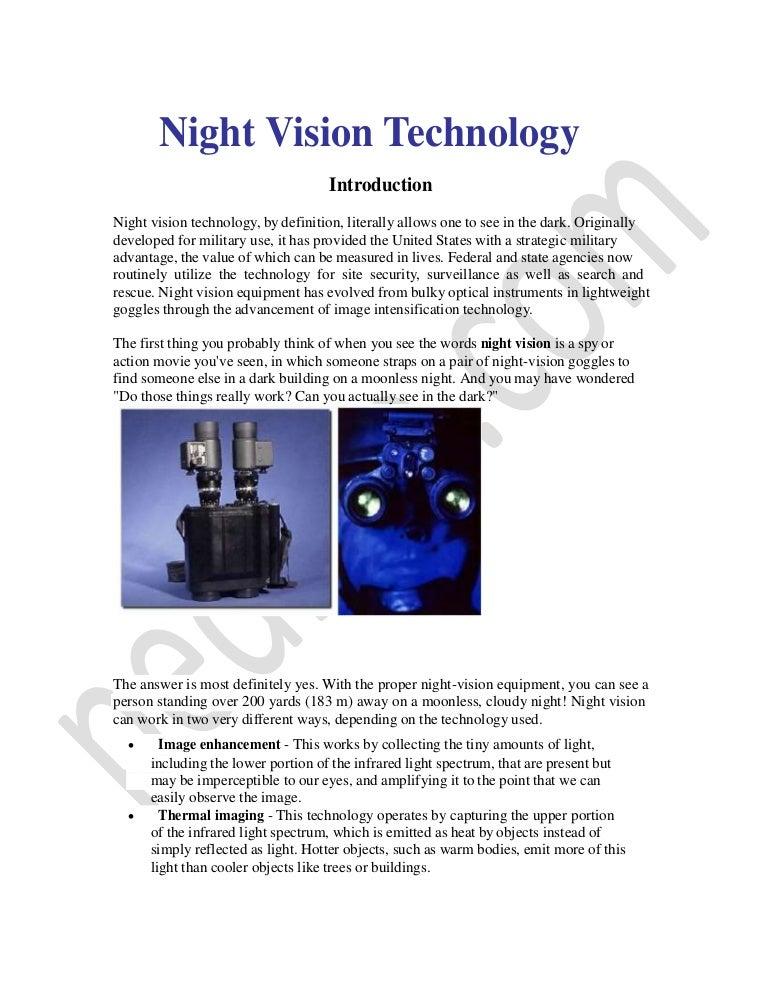Night Vision-technology