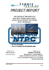 Nikhil kumar project report ON NTPC...