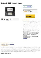 Nintendo 3 ds cosmo black