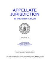Ninth circuit appellate jurisdictio...
