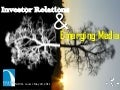 Investor Relations & Emerging Media: NIRI St. Louis – May 2011