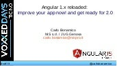 Angular 1.x reloaded:  improve your app now! and get ready for 2.0
