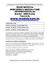 STUDY MATERIAL FOR NISM MUTUAL FUND...