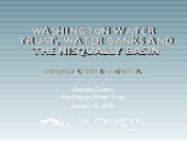 Nisqually Water Banking Feasibility...