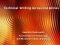 Technical Writing Across Disciplines