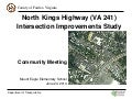 North Kings Highway (VA 241) Intersection Improvements Study Community Meeting