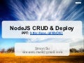Nko workshop - node js crud & deploy