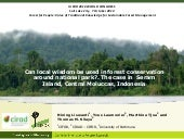 Value of traditional knowledge for sustainable forest management