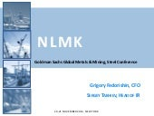 NLMK presentation. Goldman Sachs Co...