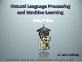 NLTK - Natural Language Processing in Python