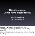 Climate change: Do we have what it takes?