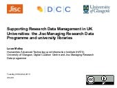 Supporting Research Data Management...