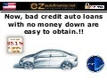 No Money Down Auto Loans - Bad Credit Car Loans with Zero Down Payment are Easier to Obtain Now !