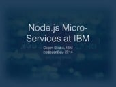 Node and Micro-Services at IBM