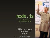 Node.js - async for the rest of us.