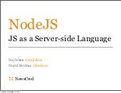 JavaScript as a Server side languag...