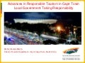 Cape Town Responsible Tourism Overview March2011