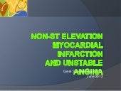 Non st elevation myocardial infarct...
