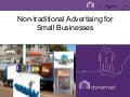 Non-traditional advertising for small businesses