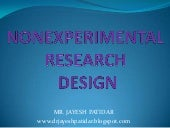 Nonexperimental research design