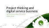 Project thinking and digital servic...