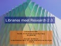 Libraries meet research 2.0