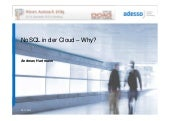 NoSQL in der Cloud -  Why?