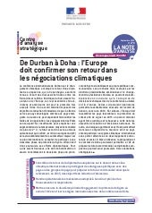 De Durban à Doha : l'Europe doit co...