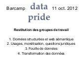 Bar Camp Datapride 11/10/2012 - Com...