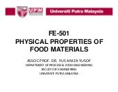 Fe-501 physical properties of food ...