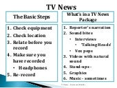 How to write a report for TV? By Ho...