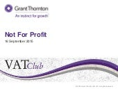 VAT Club: Not For Profit sector update - September 2015