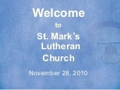 Nov 28, 2010 St. Mark's Church
