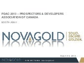 2013 PDAC Convention - Prospectors & Developers Association of Canada