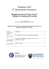 Research and Innovation Policies fo...