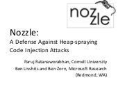 Nozzle: A Defense Against Heap-spra...