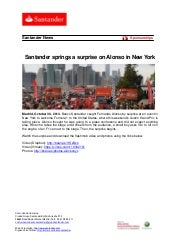 Santander springs a surprise on Alonso in New York