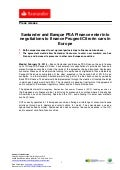 Santander and Banque PSA Finance enter into negotiations to finance Peugeot/Citroën cars in Europe