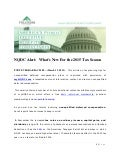 Fulcrum Partners, LLC - NQDC Alert:  What's New For the 2015 Tax Season